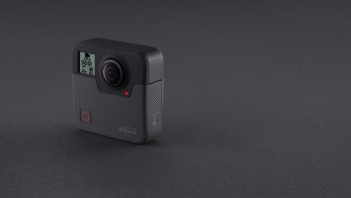 A GoPro Fusion camera.