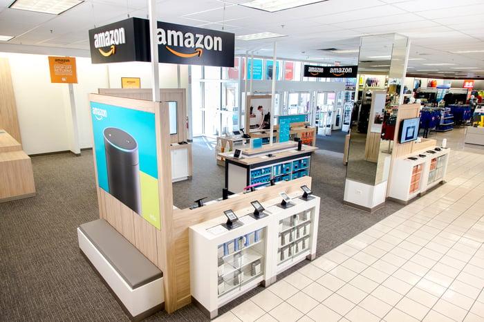 An Amazon kiosk in a Kohl's store.