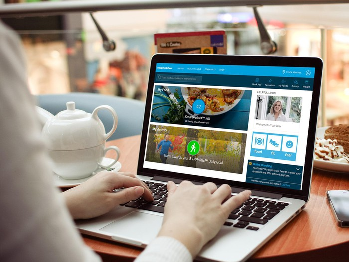 The Weight Watchers online platform for digital subscribers.