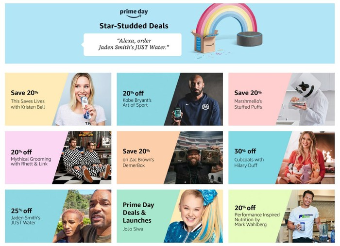 Amazon Announces Star-Studded Deals for Prime Day