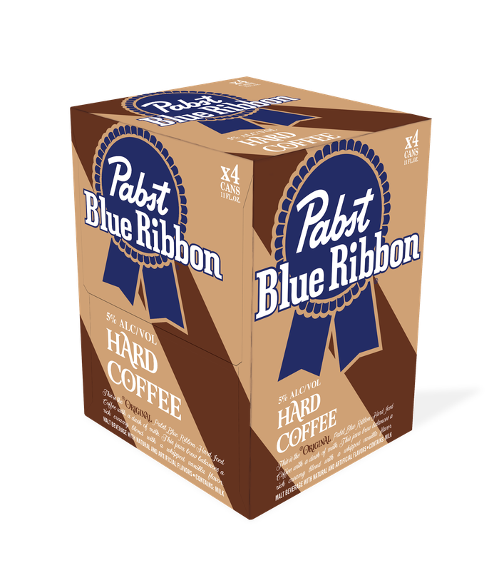 Four-pack of Pabst Blue Ribbon Hard Coffee