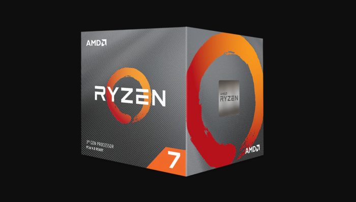 A boxed Ryzen 7 3700X processor.