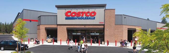 A Costco storefront.