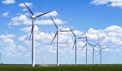 356 wind turbines field