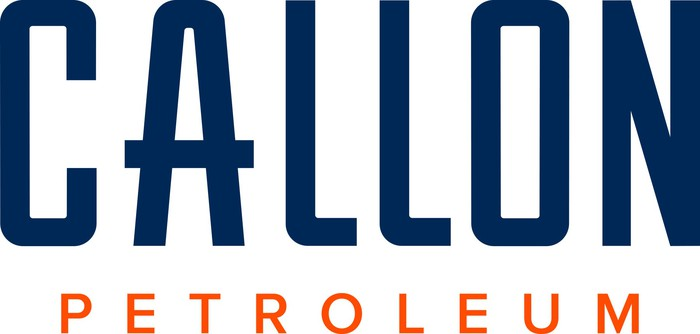 Callon Petroleum logo in blue and orange.