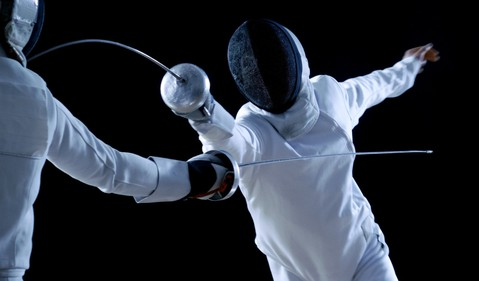 Dramatic fencing duel