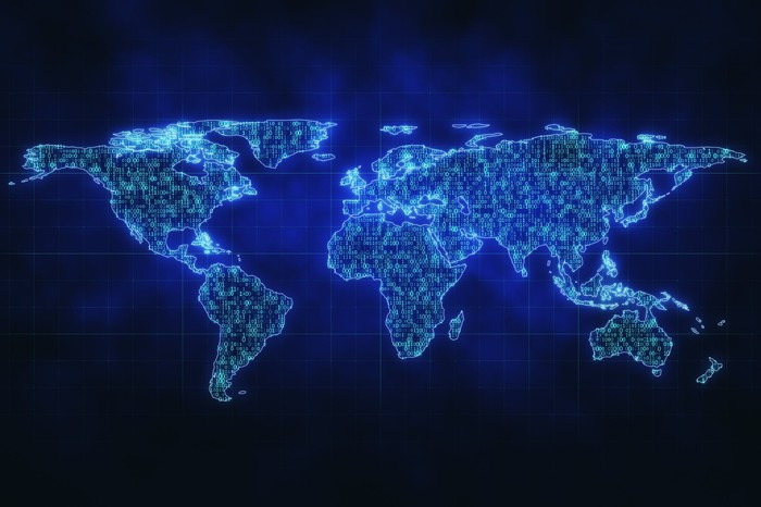 A digital map of the world