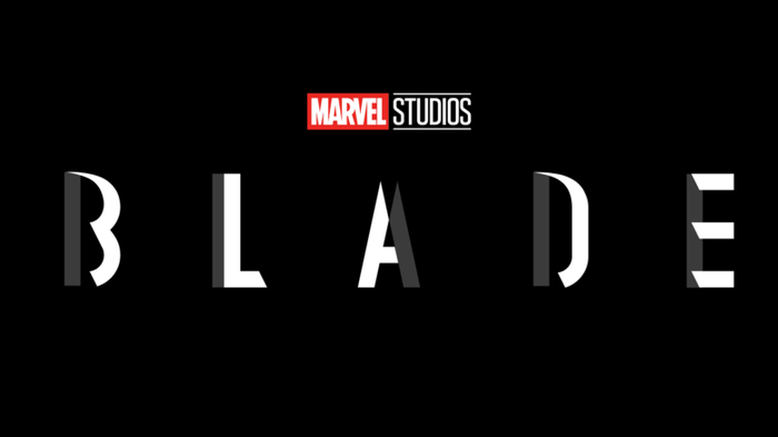 Marvel Studios Blade movie logo.