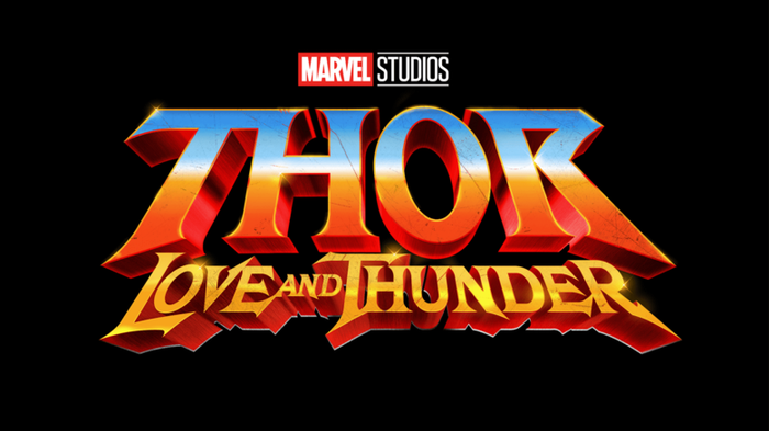 Marvel Studios Thor: Love and Thunder movie logo.