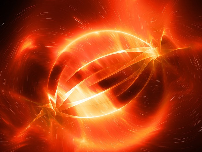 Glowing red artist's rendition of what fusion within a magnetic field might look like