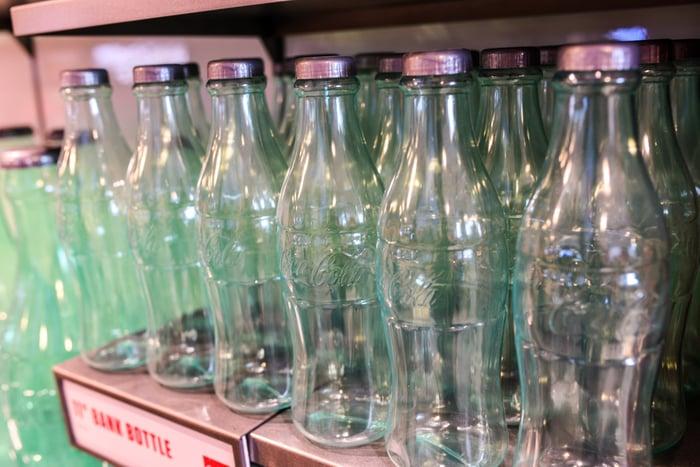 Coca-Cola bottles at the Coca-Cola Store in Orlando.
