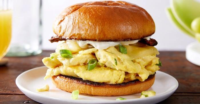 Plant-based egg sandwich