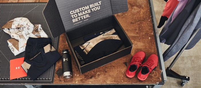 "Under Armour products in a subscription-based ""Under Armour Box"""