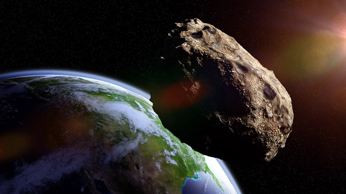 Asteroid heading towards earth.