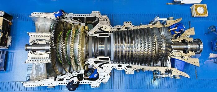 A GE gas turbine.