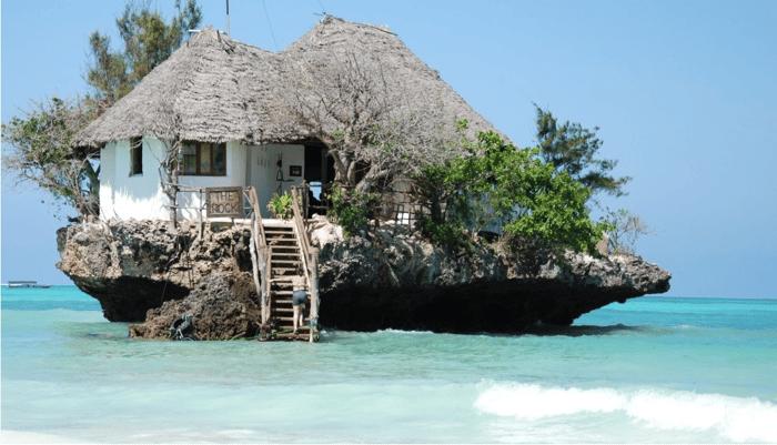 The Rock restaurant in Zanzibar, Tunisia