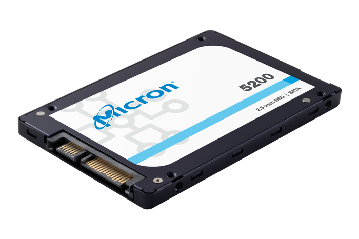 A Micron 5200 series solid state drive.