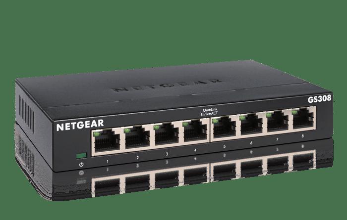 A Netgear GS308 switch.