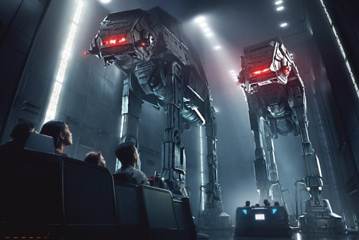 A rendering of an exhibit at Disney's new Star Wars park.