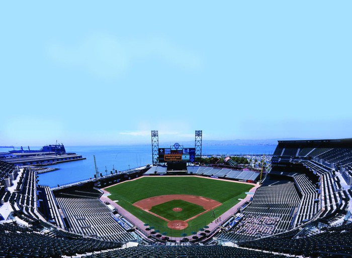 Oracle Park field in San Fransisco