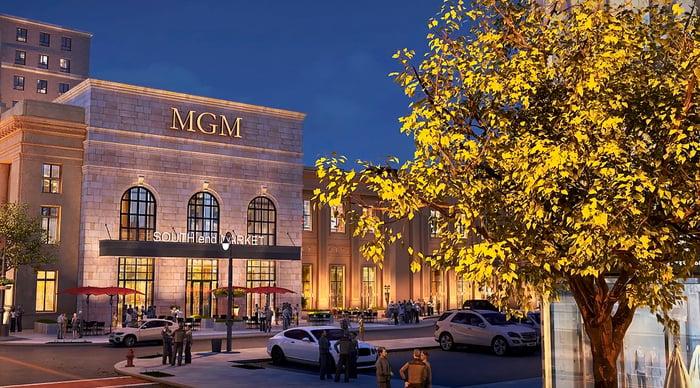Artist's rendering of MGM Springfield resort.