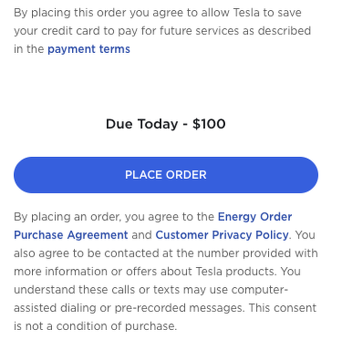 "The disclosure on Tesla's ""Select Your Solar"" page."