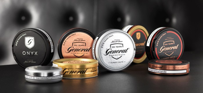 Tins of Swedish Match snus
