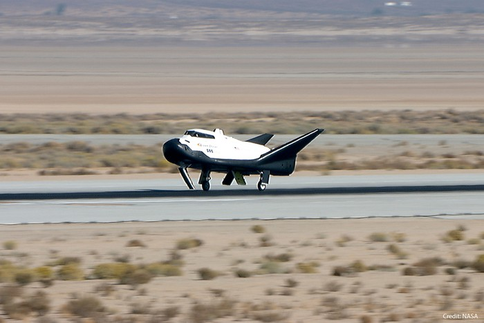 Dream Chaser spaceplane during a recent flight test