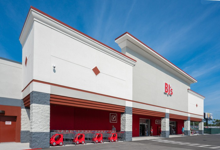 Front of a BJ's store in Florida.