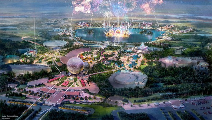 Concept art for the redesigned Epcot.
