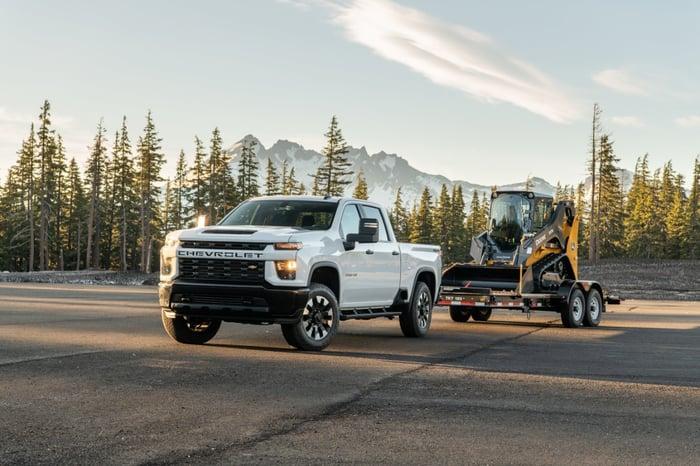 General Motors' 2020 Chevrolet Silverado towing equipment.