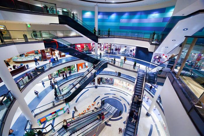 Modern shopping mall interior