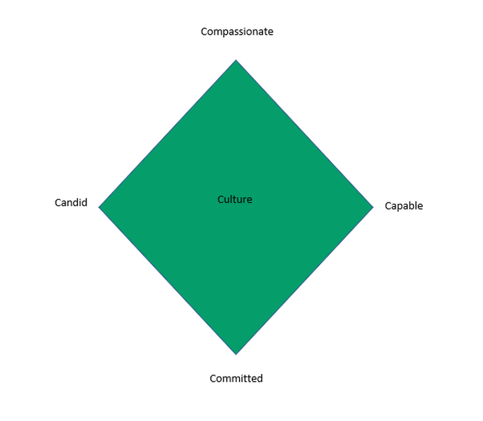 The four C elements with Culture in the middle