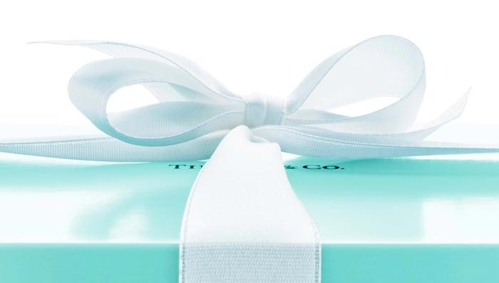 Tiffany box with bow.