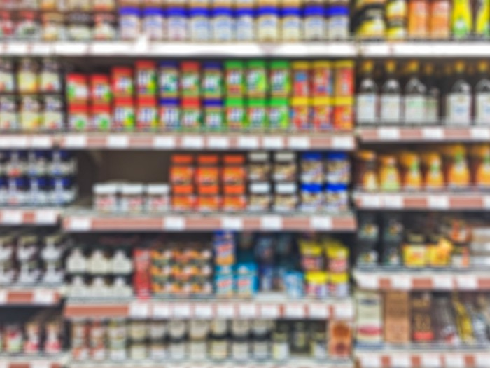 Aisle of a consumer goods retailer