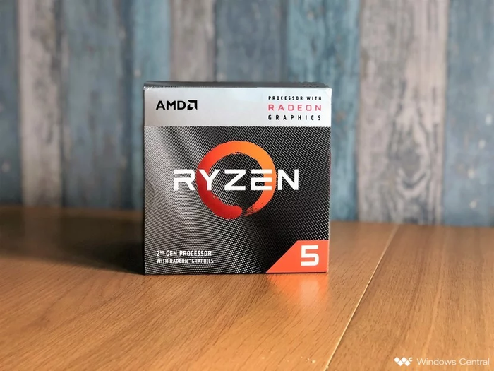 A box containing an AMD Ryzen CPU.