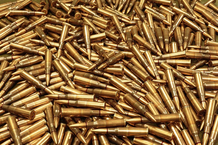 A large pile of bullets