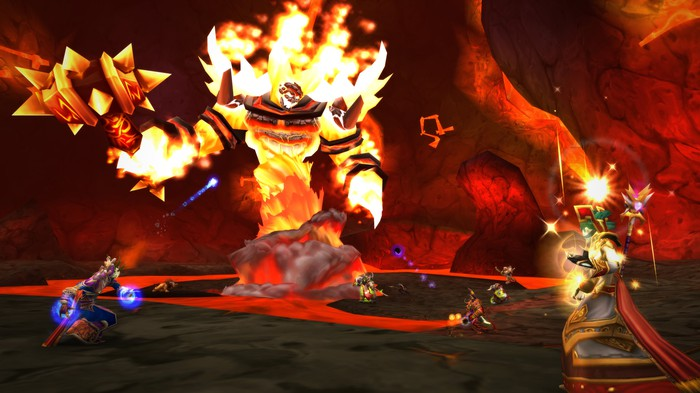 A molten core monster from World of Warcraft Classic.