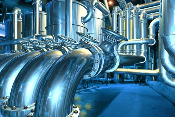 pipes and valves.