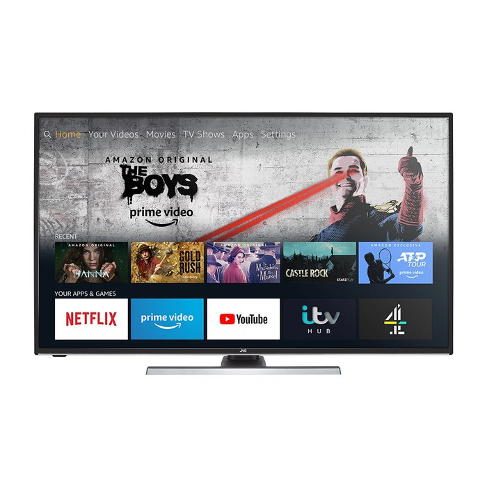 JVC Fire TV Edition Smart 4K HDR LED TV.