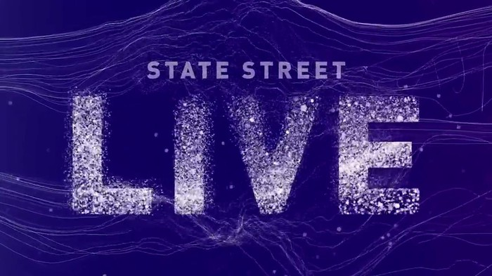 Purple background with words State Street Live on it.