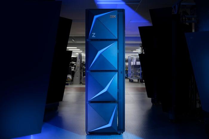 IBM z15 mainframe system.