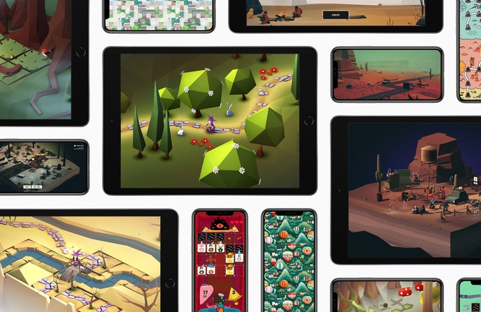 Various games on various Apple devices