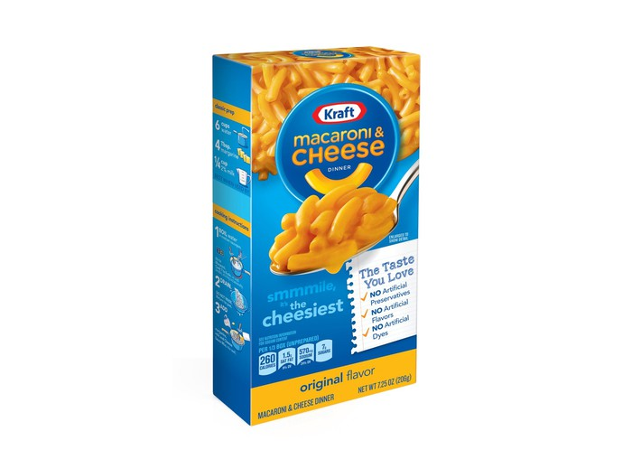 Kraft macaroni and cheese.