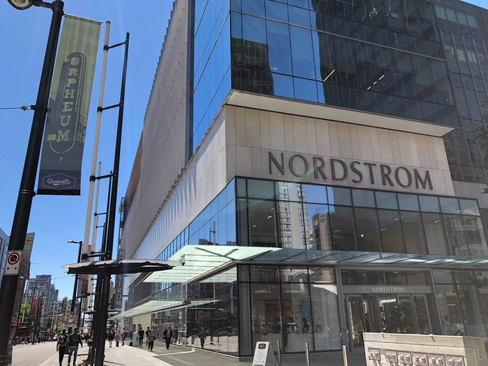 The outside of a Nordstrom store in Canada.