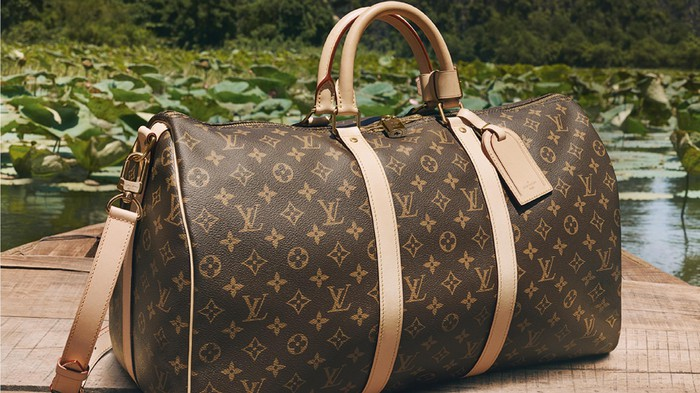 A Louis Vuitton bag.