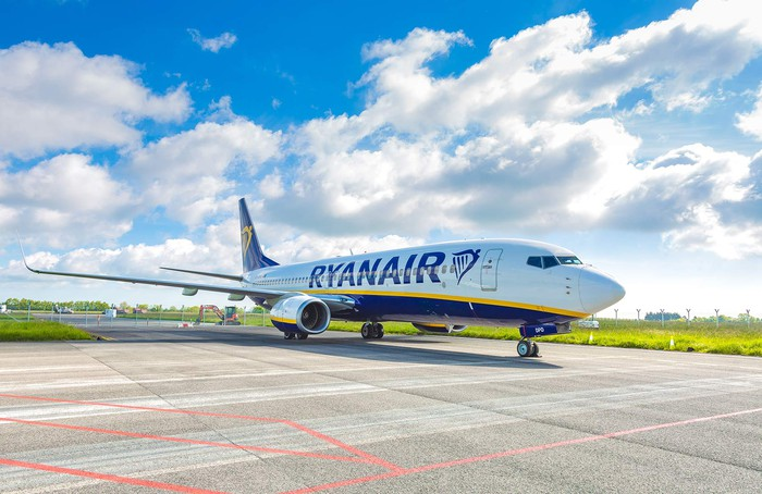 Ryanair aircraft on ground
