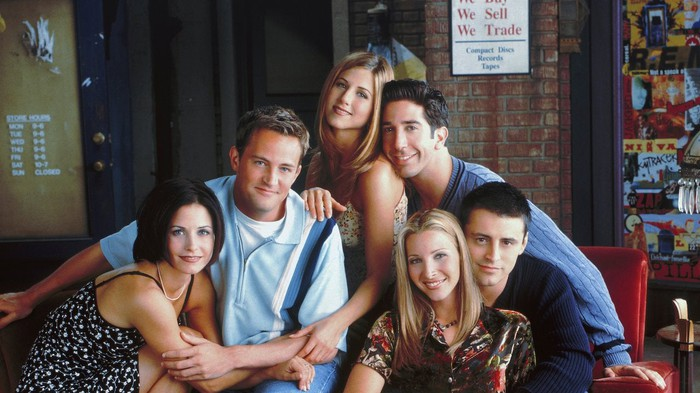 "Cast photo from ""Friends""."