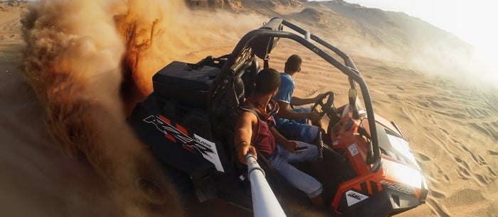 GoPro footage of an ATV ride.