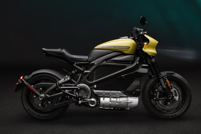 The Harley-Davidson Livewire electic motorcycle.